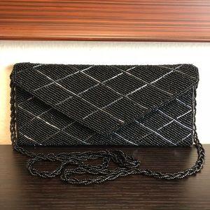Handbags - NWOT Black Beaded Purse